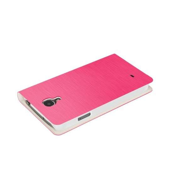 Brushed Pink Samsung Galaxy S4 Flip Cover Case B-4