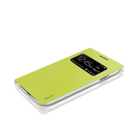 Brushed Lime Samsung Galaxy S4 View Flip Cover C-2