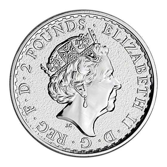 2017 UK Great Britain Silver Britannia 1 Oz Bril-2
