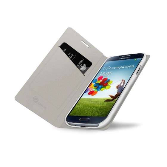 Brushed White Samsung Galaxy S4 Flip Cover Case-2