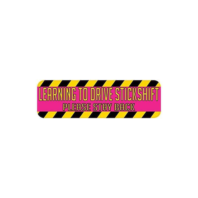 10In X 3In Learning To Drive Stickshift Bumper Sti