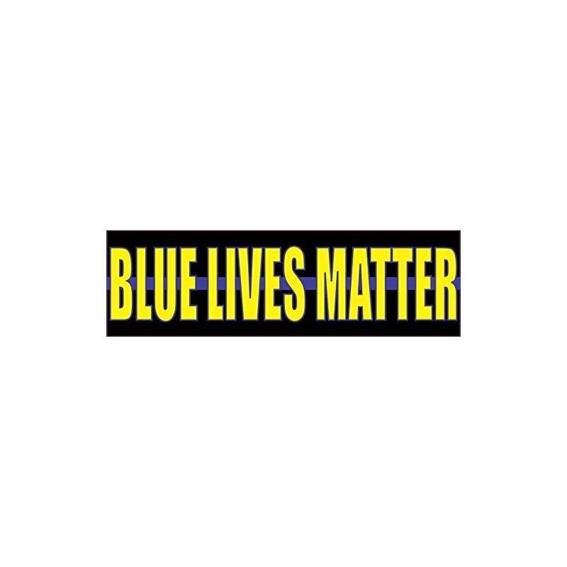 10Inx 3In Blue Lives Matter Bumper Sticker Police