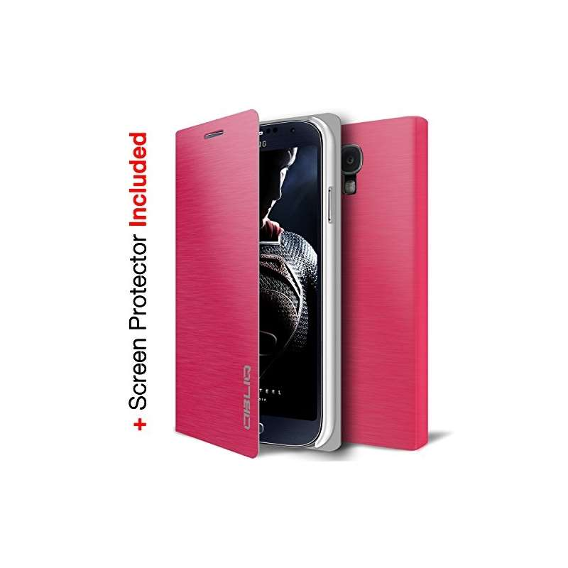 Brushed Pink Samsung Galaxy S4 Flip Cover Case Bro