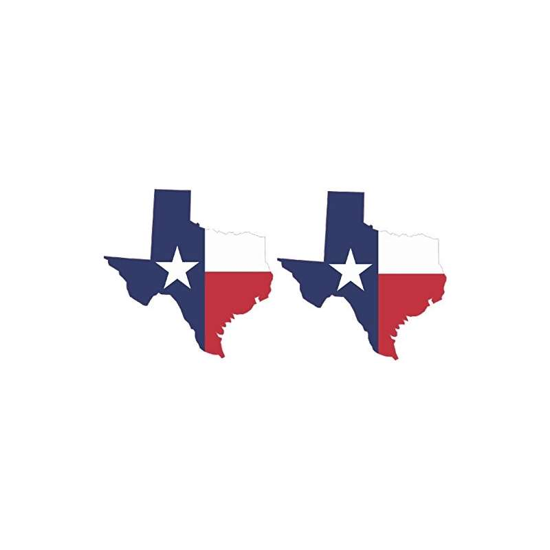 2 X 3 And X 3 And Texas State Flag Vinyl Bumper St